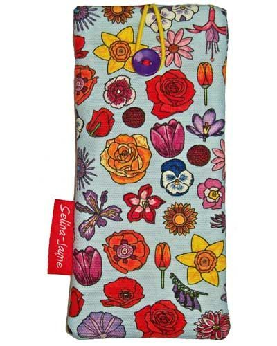 Selina-Jayne English Flowers Limited Edition Designer Soft Glasses Case