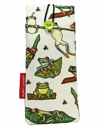 Selina-Jayne Frogs Limited Edition Designer Soft Glasses Case