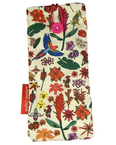Selina-Jayne Tropical Flowers Limited Edition Designer Soft Glasses Case