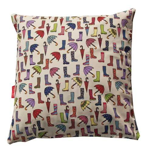 Selina-Jayne Wellies and Brollies Limited Edition Designer Cushion  42cm x 42cm