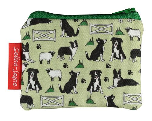 Selina-Jayne Border Collie Limited Edition Designer Coin Purse