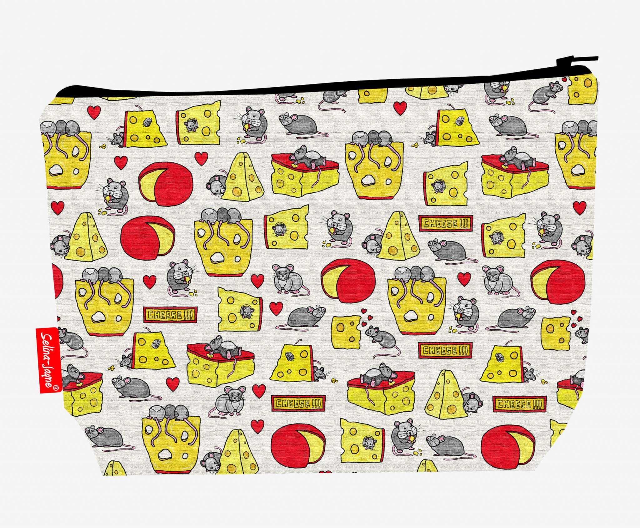 Selina-Jayne Mouse and Cheese Limited Edition Designer Wash Bag